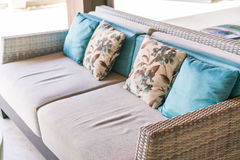 Closeup of modern furniture with pillows . Royalty Free Stock Photo