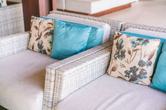 Closeup of modern furniture with pillows . Stock Image