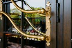 Closeup of the modern luxurious door handle Royalty Free Stock Photos