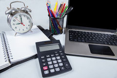 Closeup of modern office desk Stock Image
