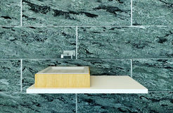 Closeup of modern wash basin Royalty Free Stock Image
