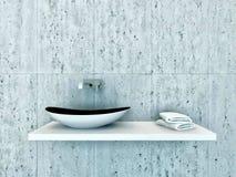 Closeup of modern wash basin Royalty Free Stock Photography
