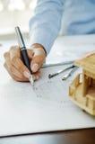 Closeup of modular home Stock Images