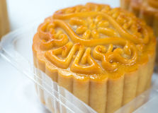 Closeup moon cakes in a Chinese mid-autumn Royalty Free Stock Images