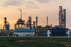 Closeup Morning Oil Refinery Royalty Free Stock Photo