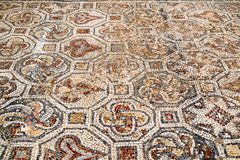 Closeup of mosaic in Ephesus, Turkey. Royalty Free Stock Image
