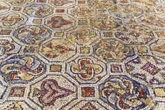 Closeup of mosaic in Ephesus, Turkey. Royalty Free Stock Photo