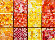 Closeup of  mosaic tiles Royalty Free Stock Images