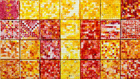Closeup of  mosaic tiles Stock Images