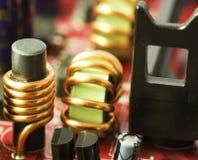 Closeup of a motherboard Stock Photos