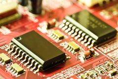 Closeup of a motherboard Royalty Free Stock Photos