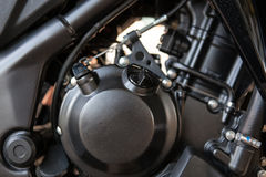 Closeup of motorbike engine. Stock Photo