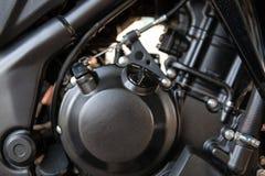 Closeup of motorbike engine. Stock Photo