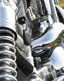 Closeup Motorcycle Chrome Stock Photos