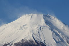 Closeup Mount Fuji, Japan Stock Photo