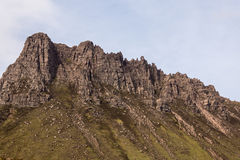 Closeup of Mountain ridge along Loch Lurgainn in Scotland. Royalty Free Stock Photography