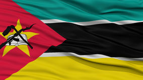 Closeup Mozambique Flag. Waving in the Wind, High Resolution Royalty Free Stock Photography