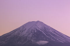 Closeup Mt Fuji in the early morning Royalty Free Stock Photo