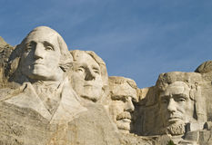 Closeup of Mt Rushmore Stock Images