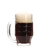 Closeup of mug full with brown beer. Stock Image
