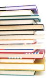 Closeup with multi-books. Multi-textbooks is for studying Royalty Free Stock Image
