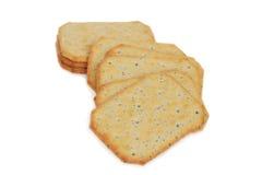 Closeup multi grain crackers Stock Photos