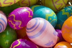 Closeup of multicolored easter eggs Stock Images