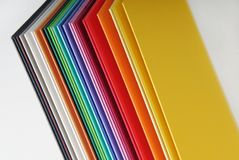 Closeup of the  colorful paper Royalty Free Stock Image