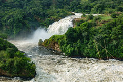 Closeup of Murchison second Fall in Uganda Royalty Free Stock Image