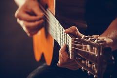 Closeup on musical instrument. Stock Photo