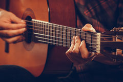Closeup on musical instrument. Royalty Free Stock Image