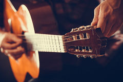 Closeup on musical instrument. Royalty Free Stock Images