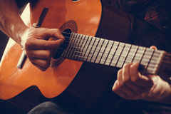 Closeup on musical instrument. Royalty Free Stock Photography