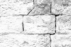 Closeup nafragment wall of chipped stone, rock walls, overgrown Stock Photography
