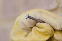 Closeup nail hand  repair blurred background Stock Image
