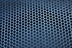 Closeup of natural metal mesh speaker.  Royalty Free Stock Photography