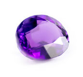 Closeup of natural purple amethyst gemstone Royalty Free Stock Photo