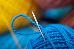 Closeup of needle Stock Photo