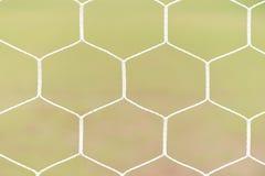 Closeup nets of a soccer Stock Photos