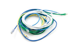 Closeup of network cable with jack Royalty Free Stock Image