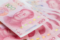 Closeup of a new 100 RMB chinese banknote Stock Images