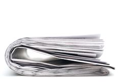 Closeup of a newspaper Stock Image
