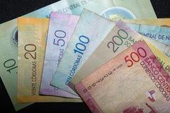 Nicaraguan Cordoba. Closeup of Nicaraguan Cordoba paper bills Royalty Free Stock Photo