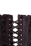 Closeup of black corset Royalty Free Stock Image