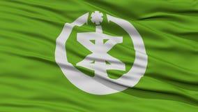 Closeup of Niigata Flag, Capital of Japan Prefecture Stock Images