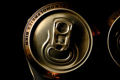 Closeup non alcoholic beer can. S Royalty Free Stock Photography