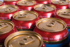 Closeup of non-alcoholic beer royalty free stock photography