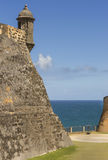 Closeup on Northeastern lookout tower with ocean view. Stock Photography
