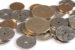 Closeup of Norwegian money. Royalty Free Stock Images