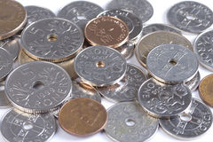 Closeup of Norwegian money. Stock Photos